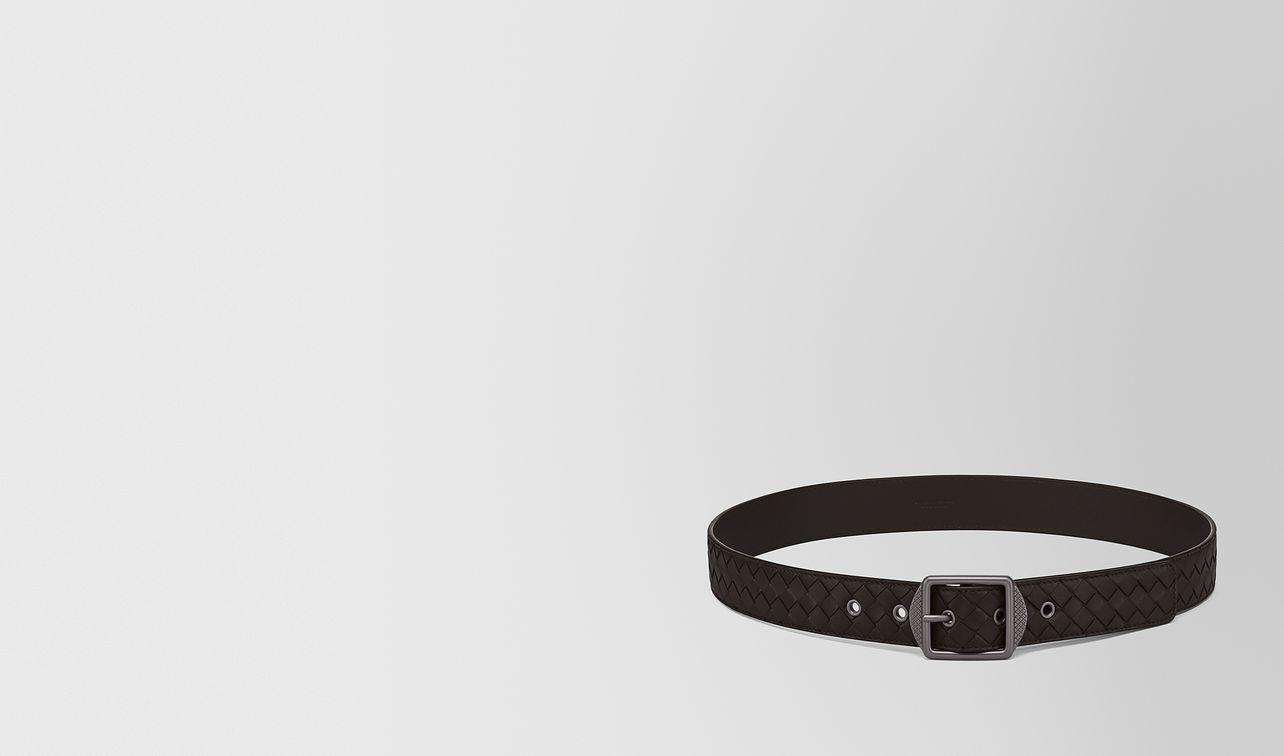 espresso intrecciato nappa belt landing