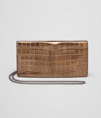 ORO SCURO CROCODILE CONTINENTAL WALLET