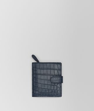 DENIM CROCODILE MINI WALLET