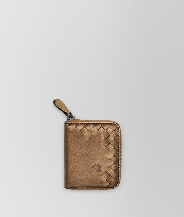 BOTTEGA VENETA ORO SCURO NAPPA COIN PURSE Mini Wallet Woman fp