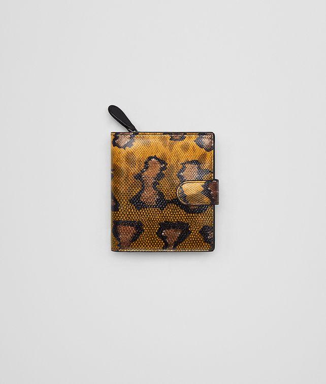 BOTTEGA VENETA OCRE KARUNG MINI WALLET Mini Wallet Woman fp