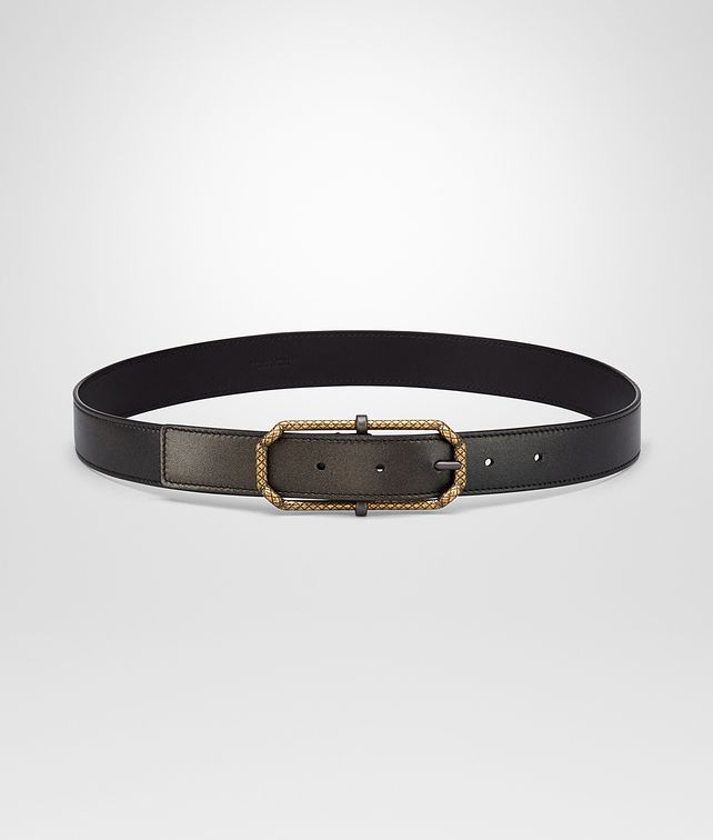 BOTTEGA VENETA DARK BRONZE NAPPA BELT Belt Woman fp
