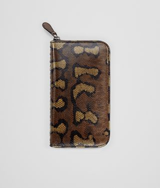 DARK CALVADOS KARUNG ZIP-AROUND WALLET