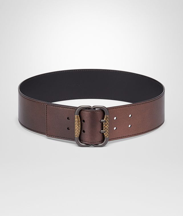 BOTTEGA VENETA DARK COPPER NAPPA BELT Belt Woman fp