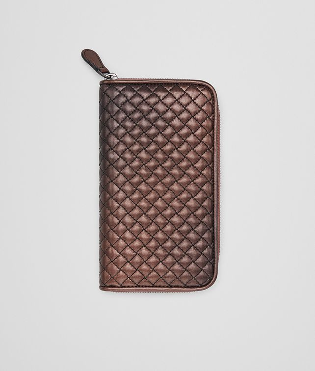 BOTTEGA VENETA DARK COPPER NAPPA ZIP-AROUND WALLET Zip Around Wallet D fp