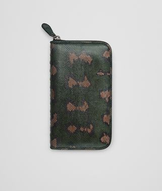 INTENSE MOSS KARUNG ZIP-AROUND WALLET