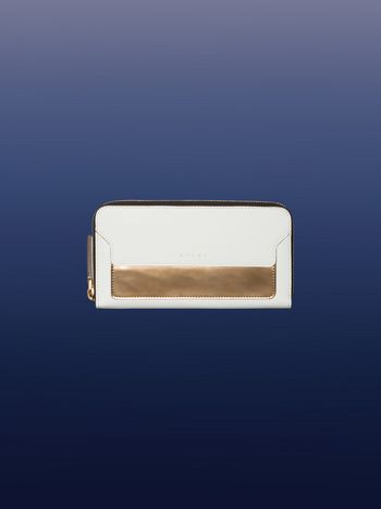 Marni White and gold zip around wallet Woman