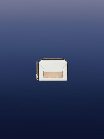 Marni White and gold mini wallet Woman