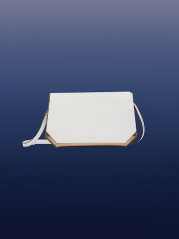Marni White and gold TANGRAM clutch Woman
