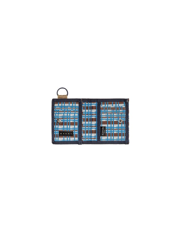 Marni PORTER wallet in nylon with Metro print Man - 4