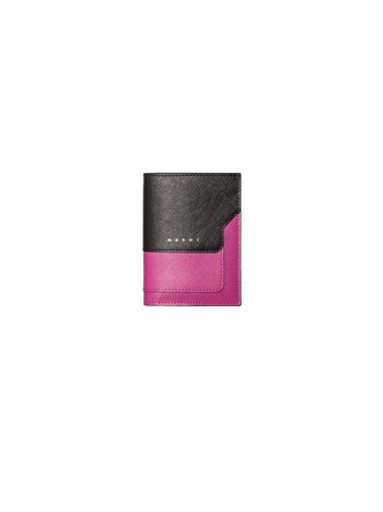 Marni Bi-fold wallet in Saffiano Woman