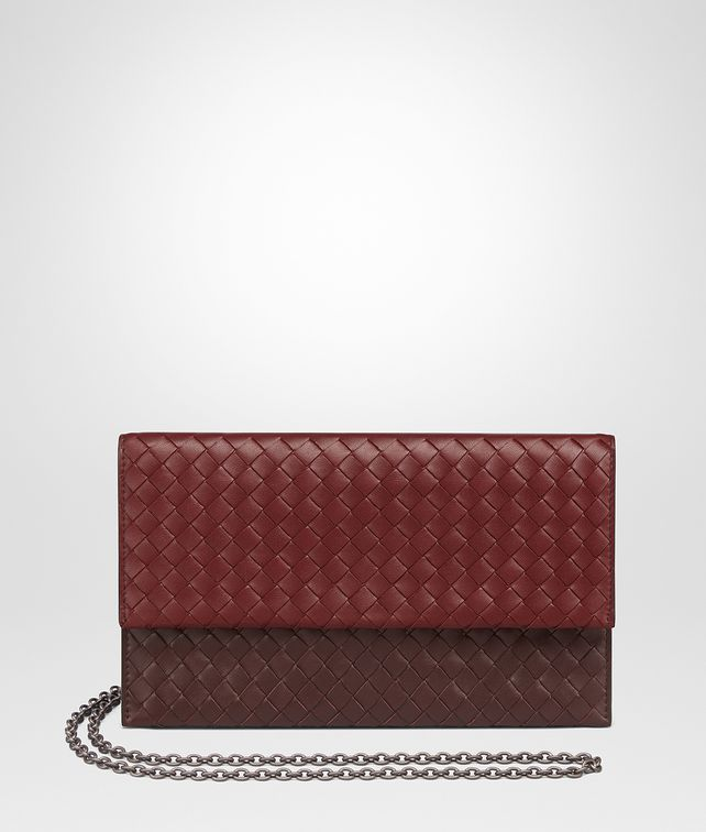 BOTTEGA VENETA GIGOLO RED INTRECCIATO NAPPA CONTINENTAL WALLET CHAIN WALLET Woman fp