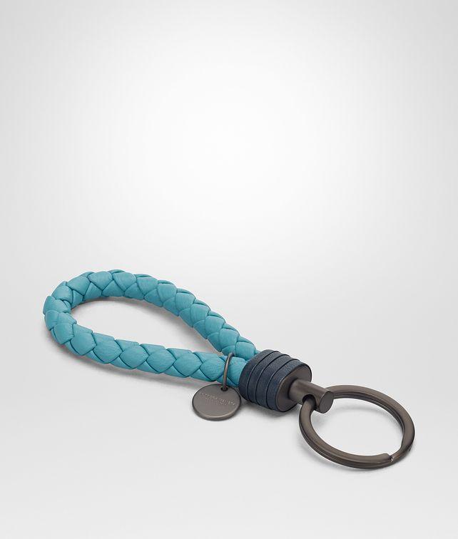 BOTTEGA VENETA AQUA INTRECCIATO NAPPA KEY RING Keyring or Bracelets E fp