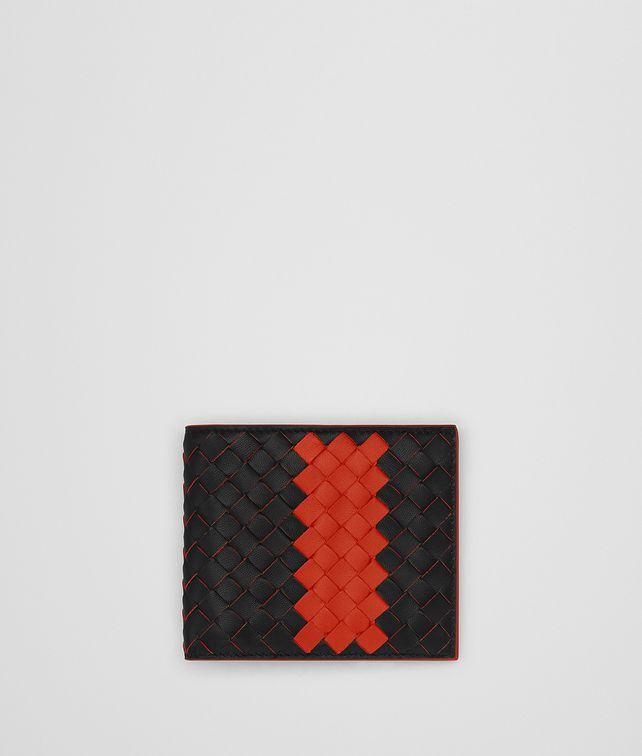 BOTTEGA VENETA NERO TERRACOTTA INTRECCIATO NAPPA WALLET Bi-fold Wallet [*** pickupInStoreShippingNotGuaranteed_info ***] fp