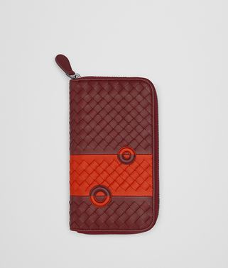 GIGOLO RED NAPPA ZIP-AROUND WALLET
