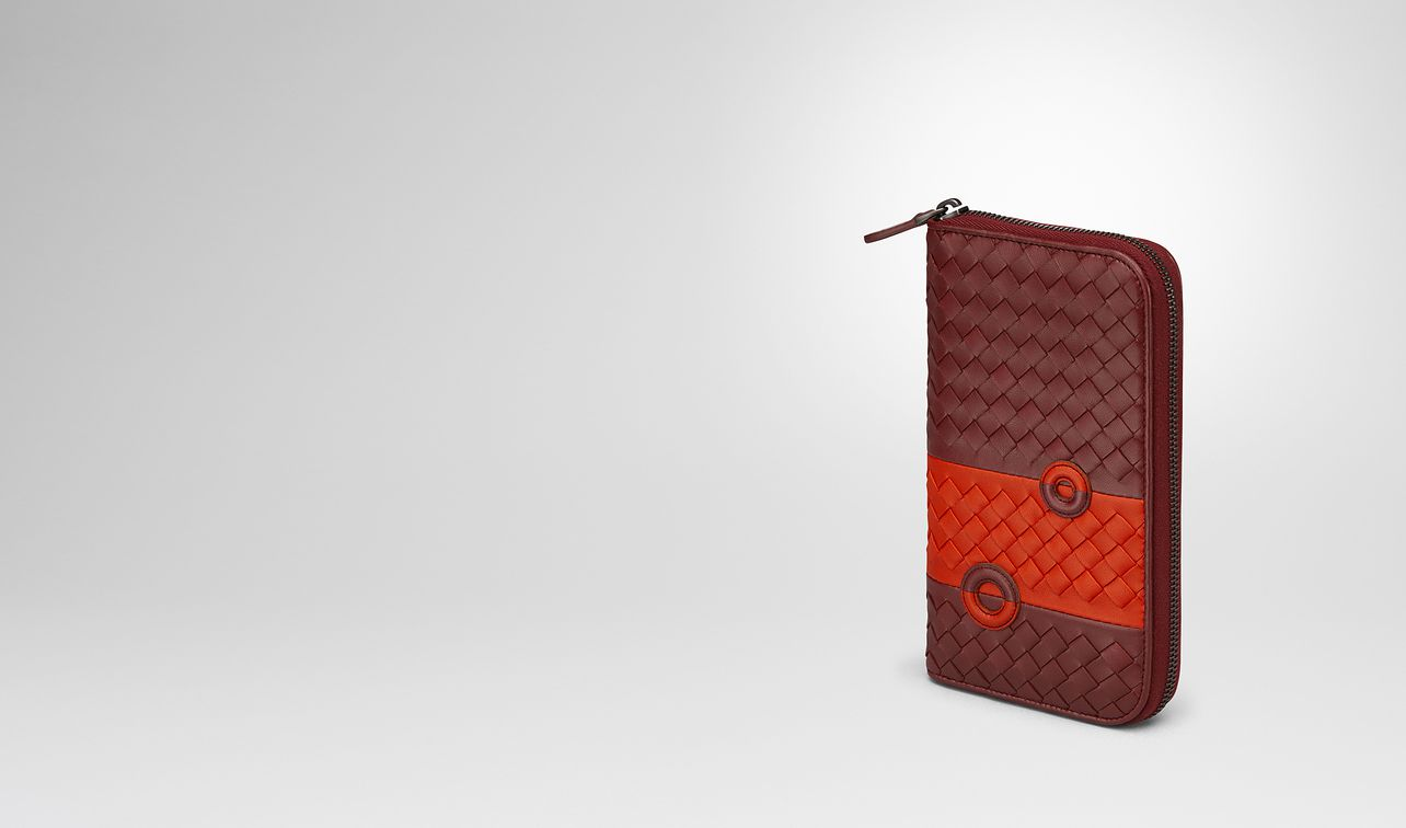 gigolo red nappa zip-around wallet landing