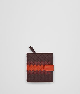 DARK BAROLO INTRECCIATO LAMB CLUB MINI WALLET