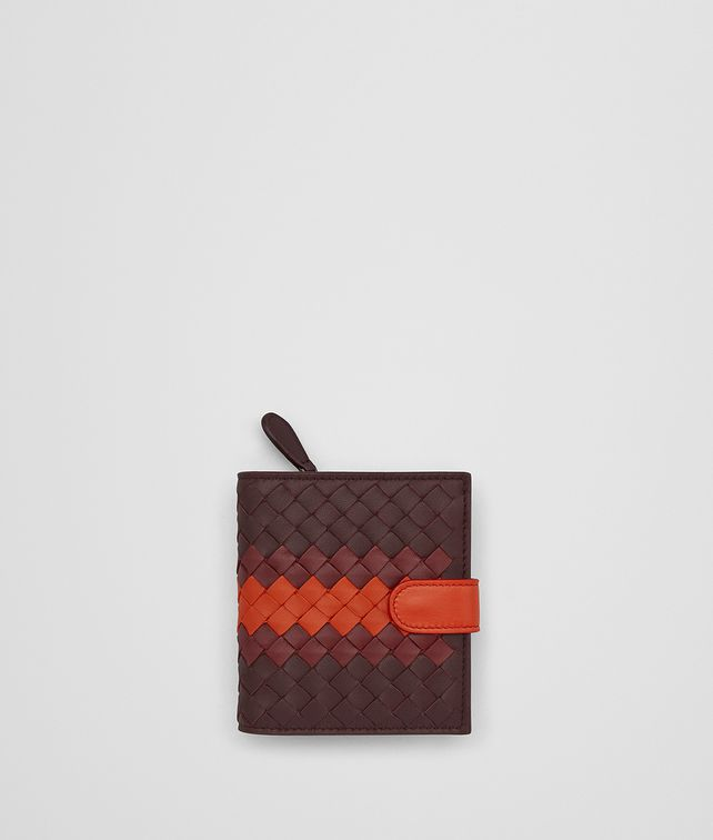 BOTTEGA VENETA DARK BAROLO INTRECCIATO LAMB CLUB MINI WALLET Mini Wallet Woman fp