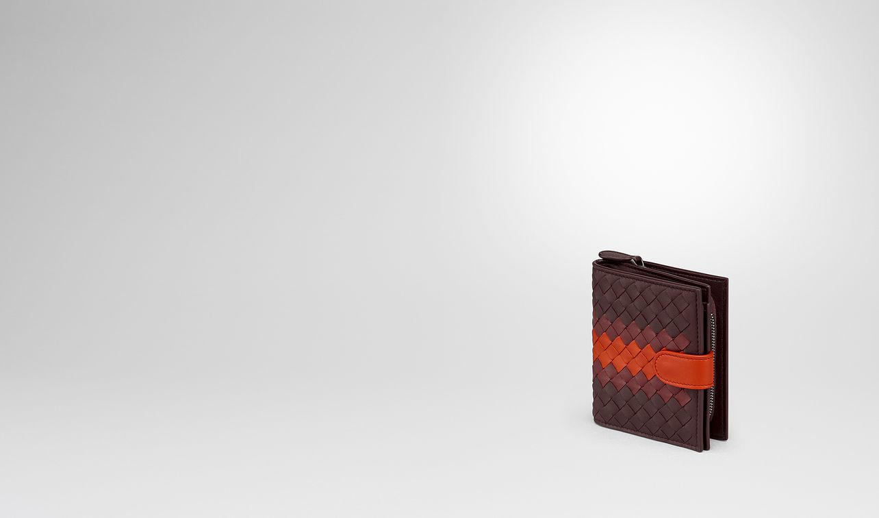 dark barolo intrecciato lamb club mini wallet landing
