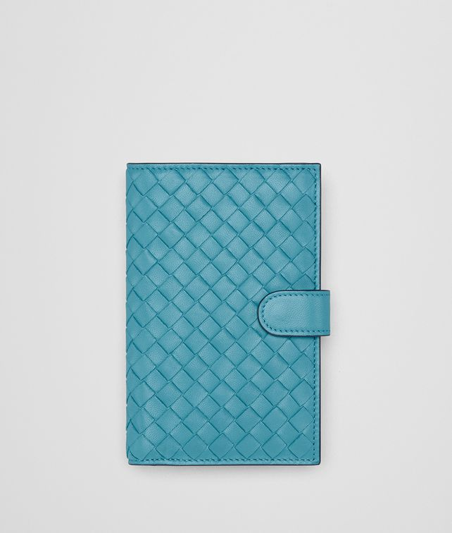 BOTTEGA VENETA AQUA INTRECCIATO NAPPA MINI WALLET Continental Wallet [*** pickupInStoreShipping_info ***] fp