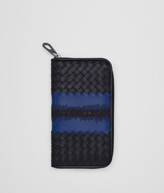 TOURMALINE INTRECCIATO NAPPA ZIP-AROUND WALLET