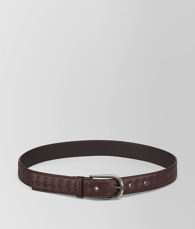 BOTTEGA VENETA DARK BAROLO INTRECCIATO NAPPA BELT Belt Woman fp