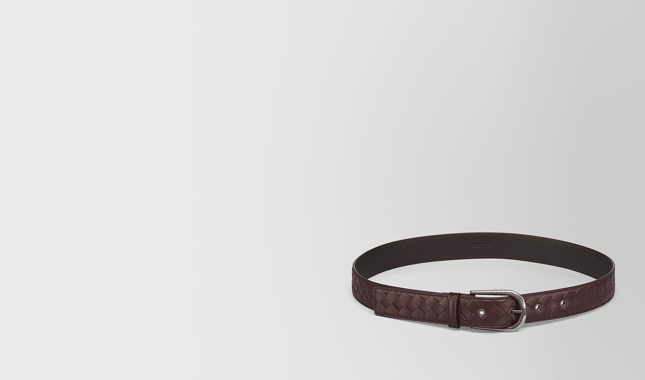 dark barolo intrecciato nappa belt landing