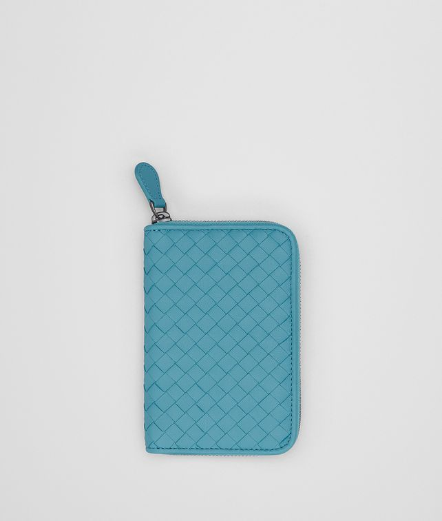 BOTTEGA VENETA AQUA INTRECCIATO NAPPA CONTINENTAL WALLET Zip Around Wallet Woman fp
