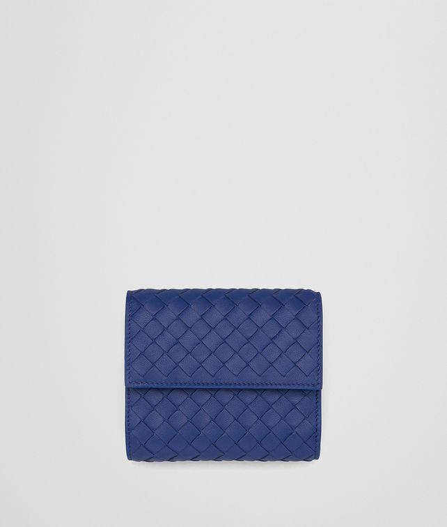 BOTTEGA VENETA COBALT INTRECCIATO NAPPA MINI WALLET Mini Wallet Woman fp