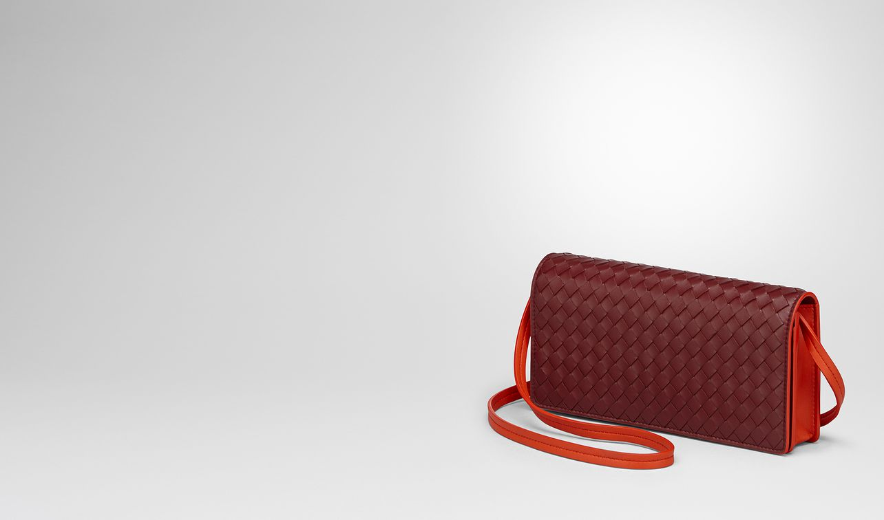gigolo red intrecciato nappa continental wallet landing