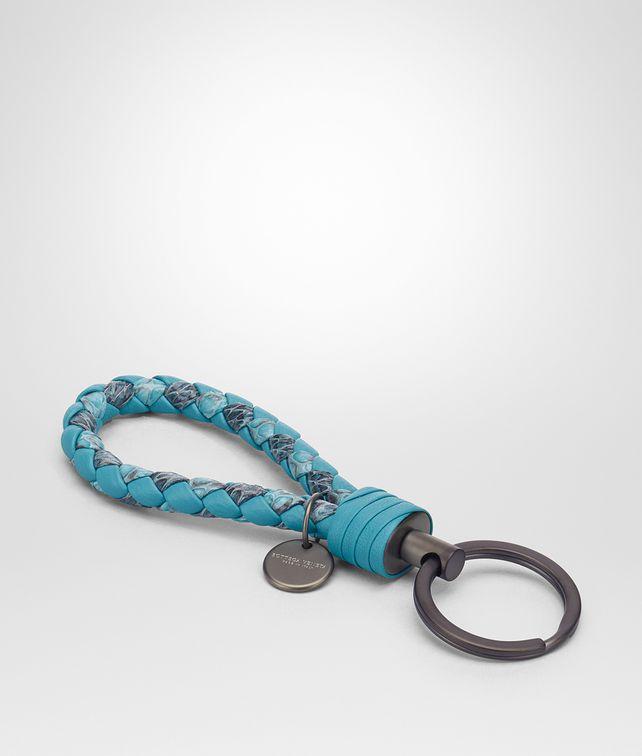 BOTTEGA VENETA AQUA INTRECCIATO AYERS KEY RING Keyring or Bracelets E fp