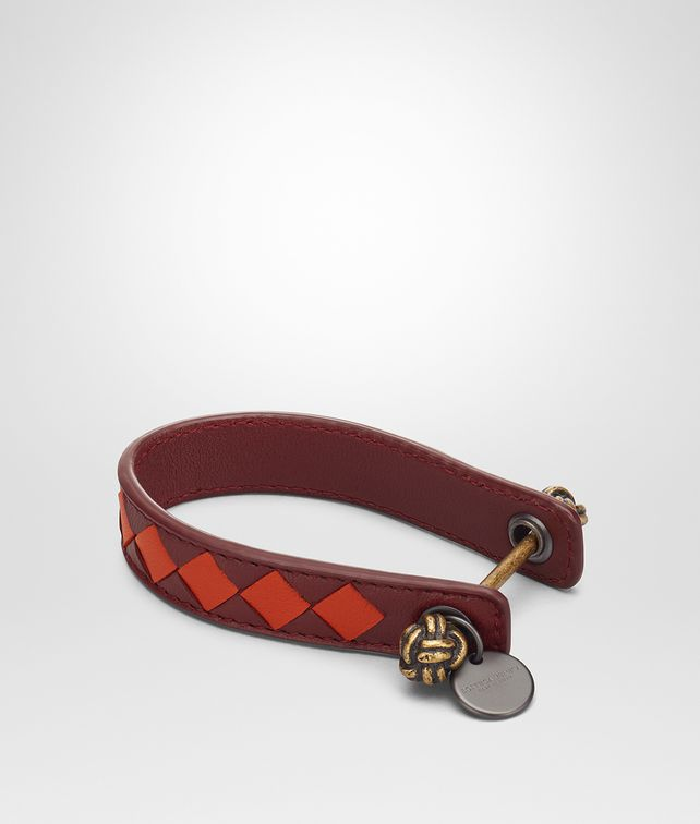 BOTTEGA VENETA DARK BAROLO INTRECCIATO NAPPA CLUB KEY RING Keyring or Bracelets E fp