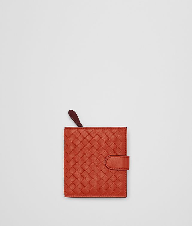 BOTTEGA VENETA TERRACOTTA INTRECCIATO NAPPA MINI WALLET Mini Wallet Woman fp