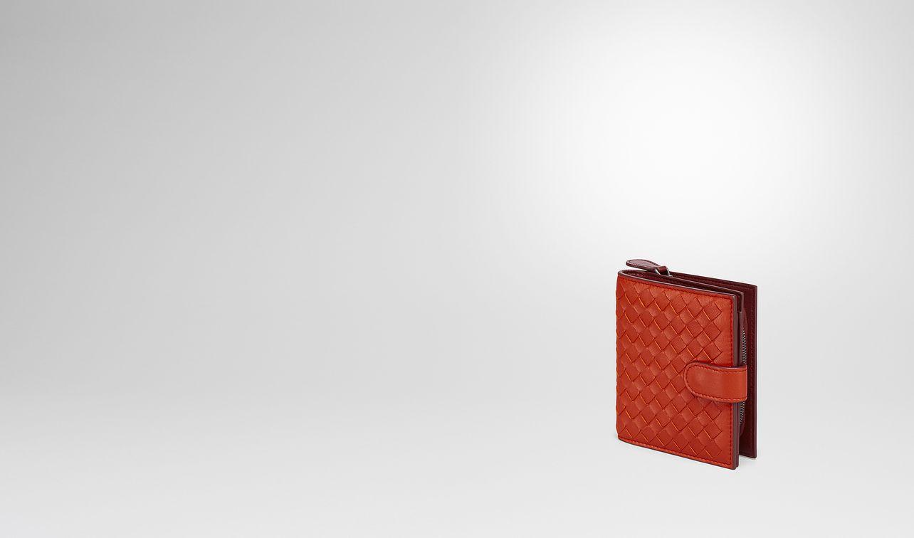 terracotta intrecciato nappa mini wallet landing