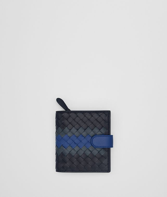BOTTEGA VENETA TOURMALINE INTRECCIATO LAMB CLUB MINI WALLET Mini Wallet Woman fp