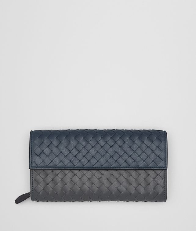 BOTTEGA VENETA DENIM INTRECCIATO NAPPA MULTICOLOR CONTINENTAL WALLET Continental Wallet Woman fp