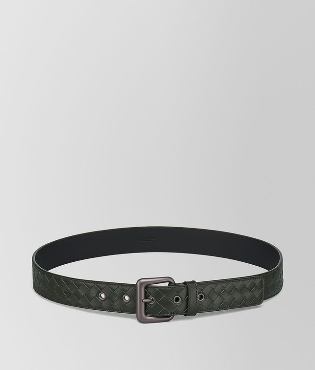 BOTTEGA VENETA DARK MOSS INTRECCIATO BELT Belt Man fp