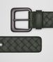 BOTTEGA VENETA DARK MOSS INTRECCIATO BELT Belt Man rp