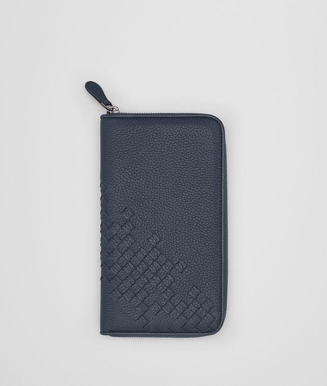 BOTTEGA VENETA DENIM CERVO ZIP-AROUND WALLET Zip Around Wallet Man fp