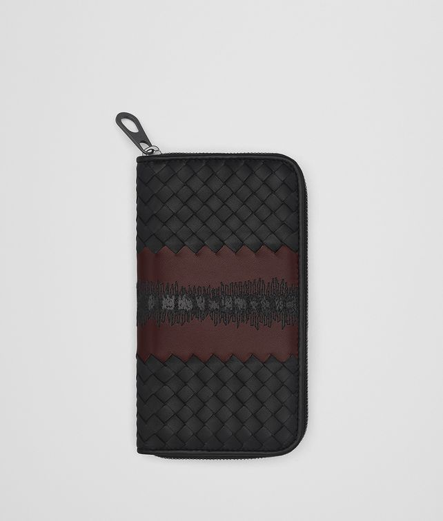 BOTTEGA VENETA NERO INTRECCIATO NAPPA ZIP-AROUND WALLET Zip Around Wallet Man fp
