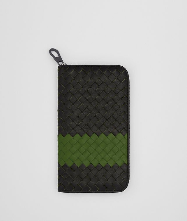 BOTTEGA VENETA NERO IVY INTRECCIATO NAPPA ZIP-AROUND WALLET Zip Around Wallet [*** pickupInStoreShippingNotGuaranteed_info ***] fp