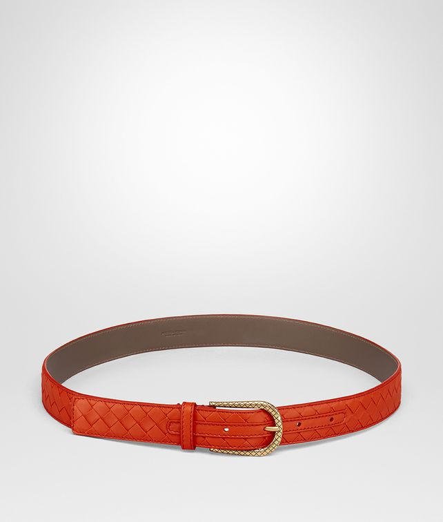 BOTTEGA VENETA TERRACOTTA INTRECCIATO NAPPA BELT Belt Woman fp