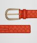 BOTTEGA VENETA TERRACOTTA INTRECCIATO NAPPA BELT Belt Woman rp