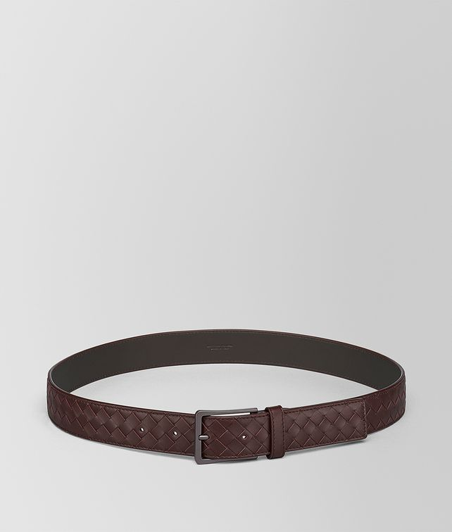 BOTTEGA VENETA DARK BAROLO INTRECCIATO BELT Belt Man fp