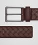 BOTTEGA VENETA DARK BAROLO INTRECCIATO BELT Belt Man rp
