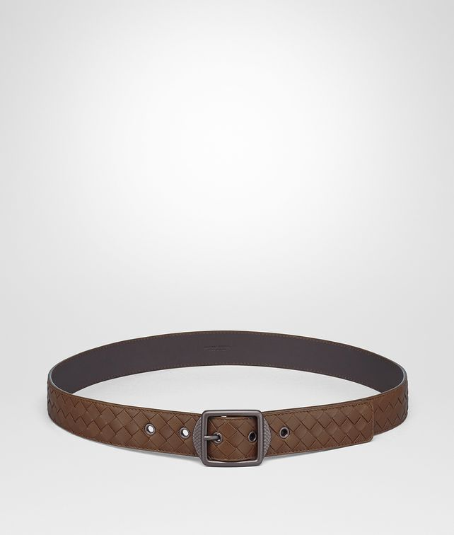 BOTTEGA VENETA DARK CALVADOS INTRECCIATO NAPPA BELT Belt [*** pickupInStoreShippingNotGuaranteed_info ***] fp