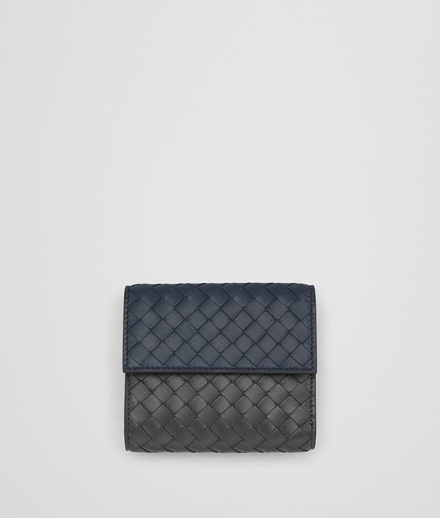 BOTTEGA VENETA DENIM INTRECCIATO NAPPA MULTICOLOR MINI WALLET Mini Wallet Woman fp