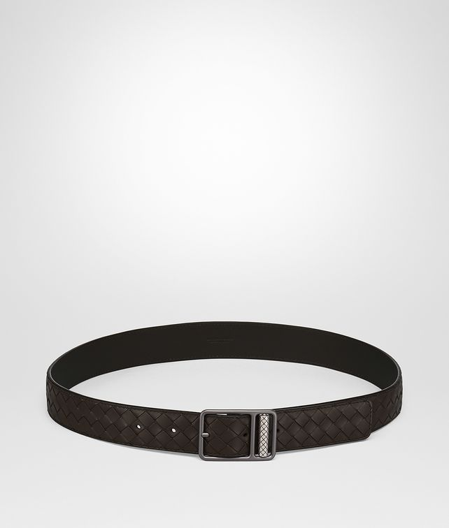 BOTTEGA VENETA ESPRESSO INTRECCIATO CALF BELT Belt [*** pickupInStoreShippingNotGuaranteed_info ***] fp
