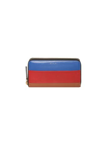 Marni Zip wallet in leather  Woman