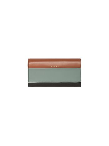 Marni Tri-coloured wallet in leather  Woman
